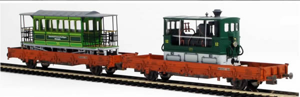 REI Models 671341 - Swiss Berner Steam Tram Transport Set